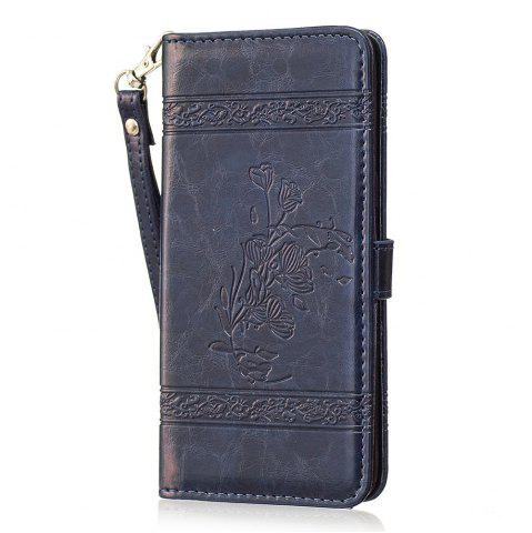 Hot Genuine Quality Retro Style Oil Wax Flower Pattern Flip PU Leather Wallet Case for Samsung Galaxy S8 Plus