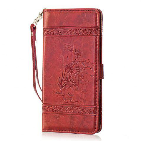 Latest Genuine Quality Retro Style Oil Wax Flower Pattern Flip PU Leather Wallet Case for Samsung Galaxy S8 Plus