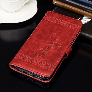 Genuine Quality Retro Style Oil Wax Flower Pattern Flip PU Leather Wallet Case for Samsung Galaxy J5 Prime -