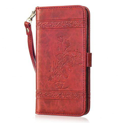 Hot Genuine Quality Retro Style Oil Wax Flower Pattern Flip PU Leather Wallet Case for Samsung Galaxy J5 Prime