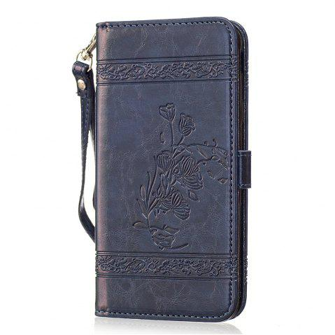 Best Genuine Quality Retro Style Oil Wax Flower Pattern Flip PU Leather Wallet Case for Samsung Galaxy J5 Prime