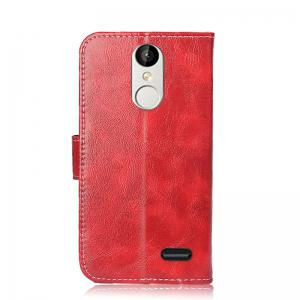 Durable Oil Wax Pattern Flip PU Leather Wallet Case for Leagoo M5 -