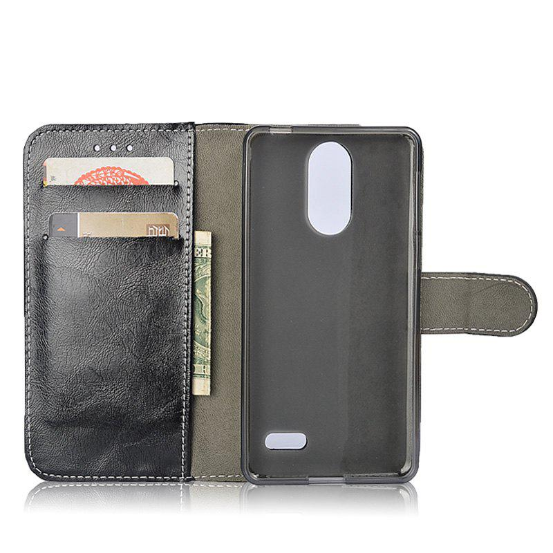 Outfits Durable Oil Wax Pattern Flip PU Leather Wallet Case for Leagoo M5