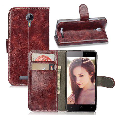 Fashion Durable Oil Wax Pattern Flip PU Leather Wallet Case for Leagoo Z5