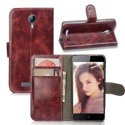 Durable Oil Wax Pattern Flip PU Leather Wallet Case for Leagoo Z5 -
