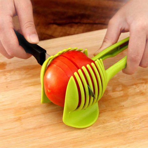 Online Handheld Fruit Slicer Tomato Cutter Lemon Potato Food Egg Peel Onion Holder