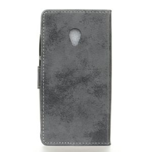 KaZiNe Retro PU Leather Silicon Magnetic Dirt Resistant Phone Case for Alcatel U5 -