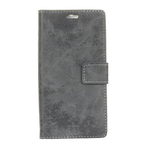 Affordable KaZiNe Retro PU Leather Silicon Magnetic Dirt Resistant Phone Case for Alcatel U5