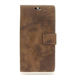 KaZiNe Retro PU Leather Silicon Magnetic Dirt Resistant Phone Case for Alcatel A3 XL -