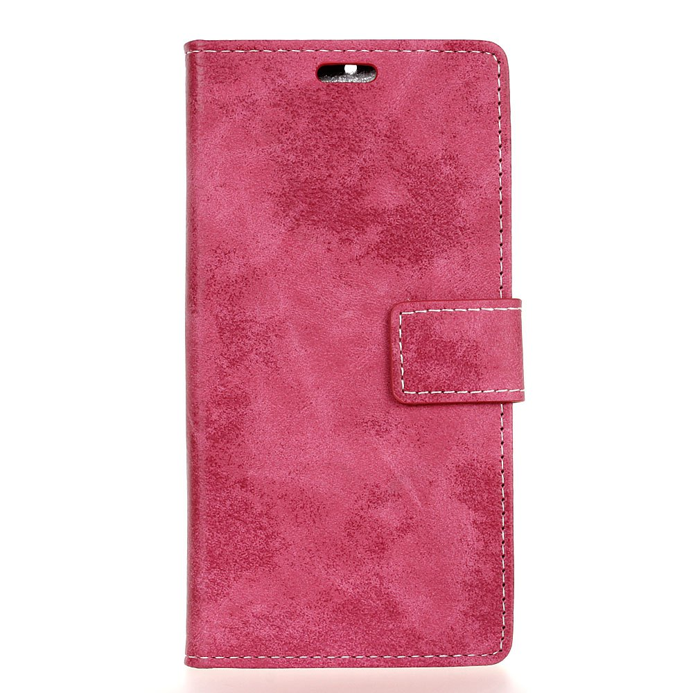 Trendy KaZiNe Retro PU Leather Silicon Magnetic Dirt Resistant Phone Case for Alcatel A3 XL