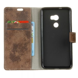 KaZiNe Retro PU Leather Silicon Magnetic Dirt Resistant Phone Case for Alcatel A3-5.0 -