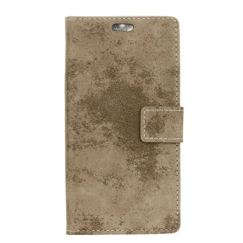 Fancy KaZiNe Retro PU Leather Silicon Magnetic Dirt Resistant Phone Case for Alcatel A3-5.0
