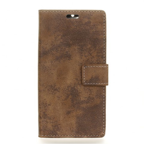 Best KaZiNe Retro PU Leather Silicon Magnetic Dirt Resistant Phone Case for Alcatel A5 LED