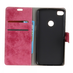 KaZiNe Retro PU Leather Silicon Magnetic Dirt Resistant Phone Case for Alcatel I DOL 5 -