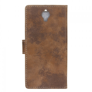 KaZiNe Retro PU Leather Silicon Magnetic Dirt Resistant Phone Case for Alcatel I DOL X+ -