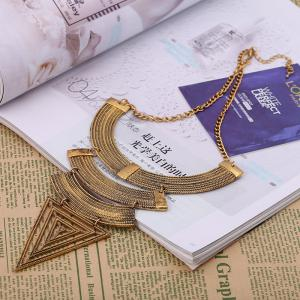 New Geometric Triangle Exaggerated Necklace -