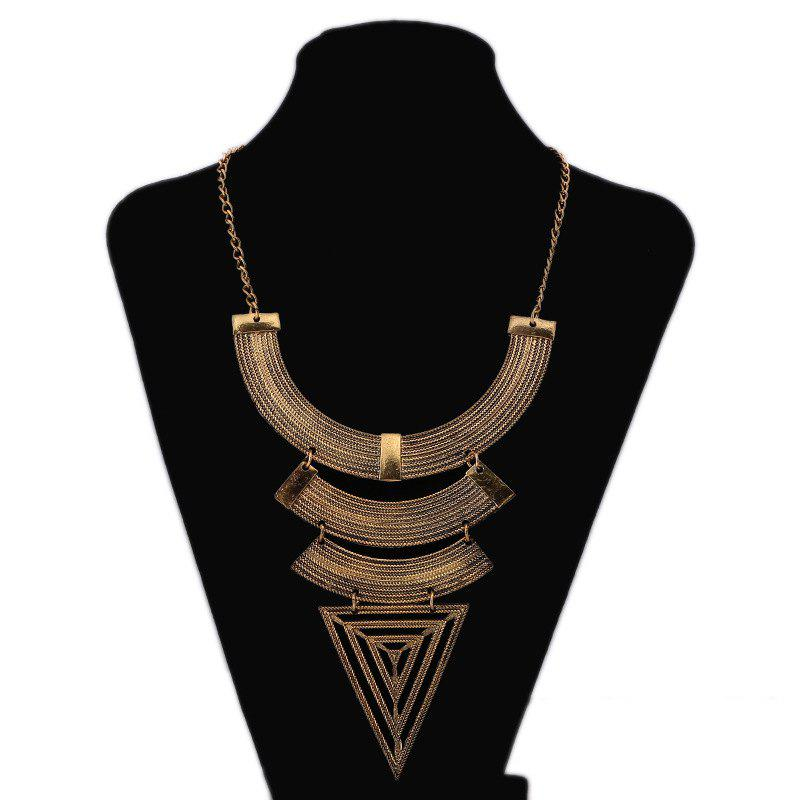 New New Geometric Triangle Exaggerated Necklace