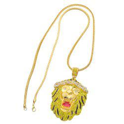 New Trend Lion Head Pendant Hip Hop Necklace -