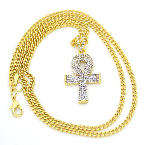 Discount Egyptian Diamond Key Cross Necklace