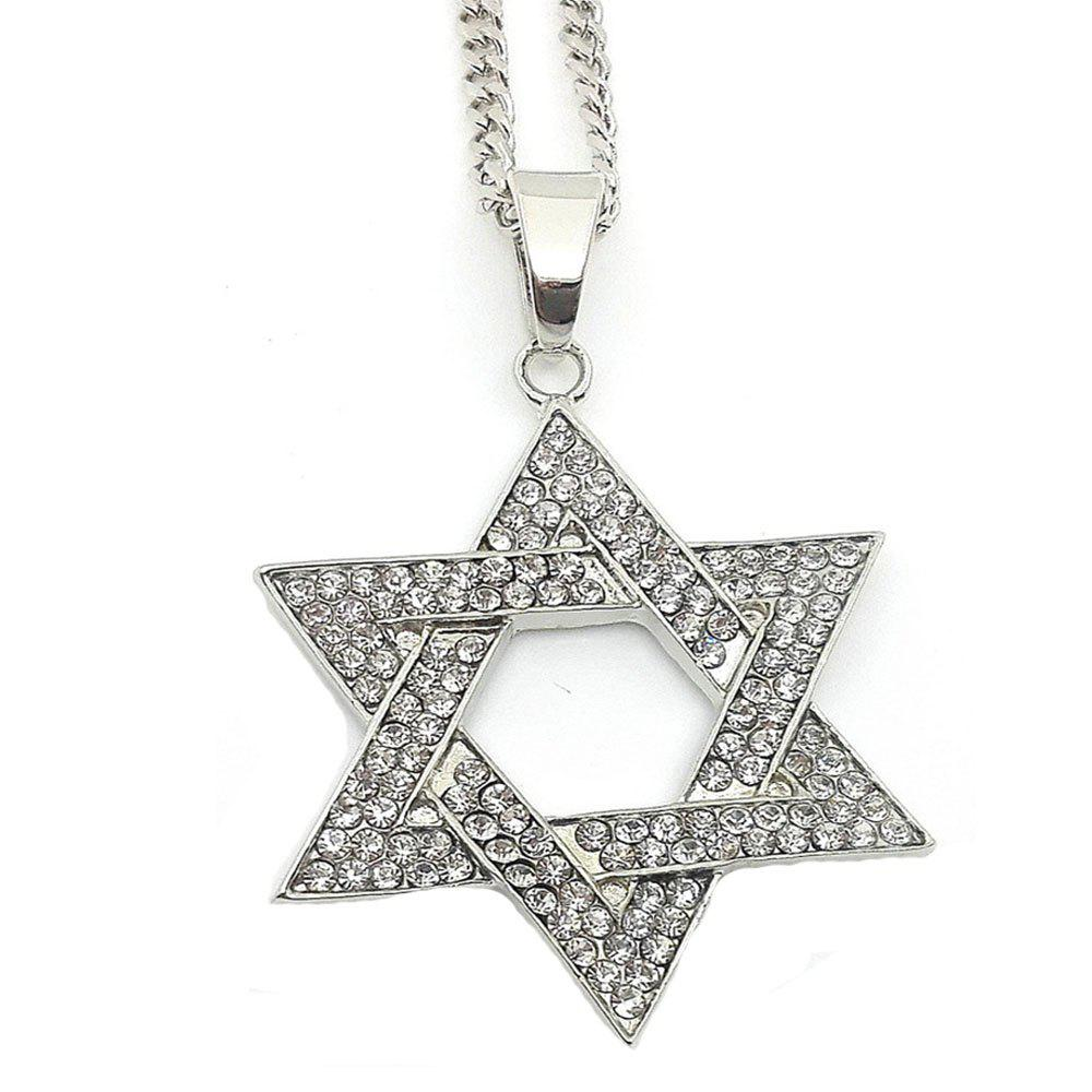Shops New Silver Six Angle Star Pendant Necklace