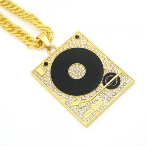 New Gramophone Oil Drop Pendant Necklace -