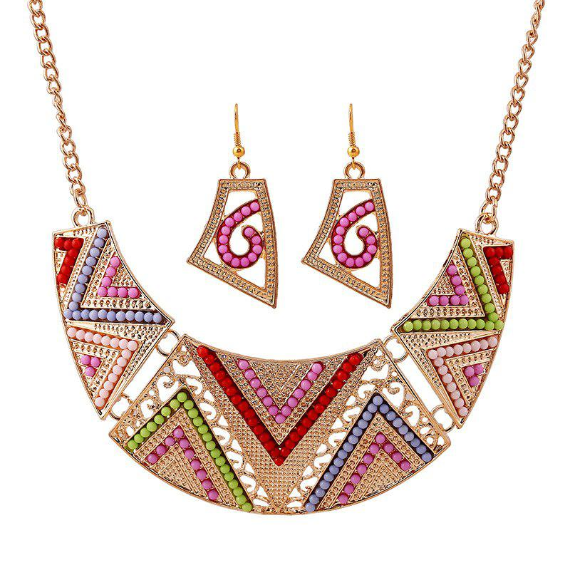 Cheap Alloy Beads Color Set Earrings Necklace