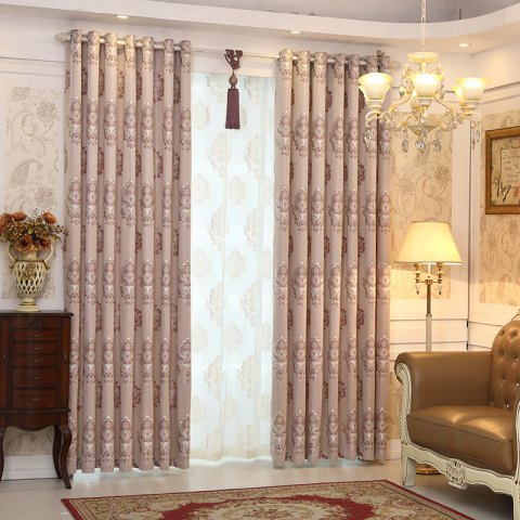 Trendy European Minimalist Style living Room Bedroom Jacquard Curtains Grommet