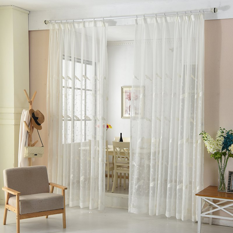 Shops European Minimalist Style Bedroom Restaurant Embroidered Curtains