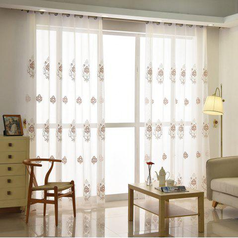 Discount European Minimalist Style Restaurant Embroidered Curtains Grommet