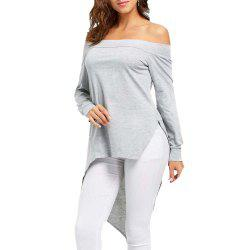 Women'S Off Shoulder Collar Irregular T-shirt -