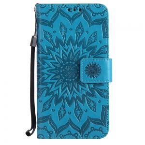 Sun Flower Printing Design Pu Leather Flip Wallet Lanyard Protective Case for Huawei Honor 7i -