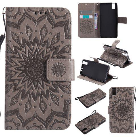 Sun Flower Printing Design Pu Leather Flip Wallet Lanyard Защитный чехол для Huawei Honor 7i