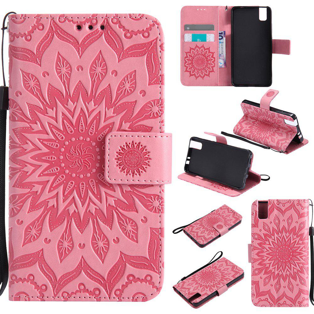 Cheap Sun Flower Printing Design Pu Leather Flip Wallet Lanyard Protective Case for Huawei Honor 7i