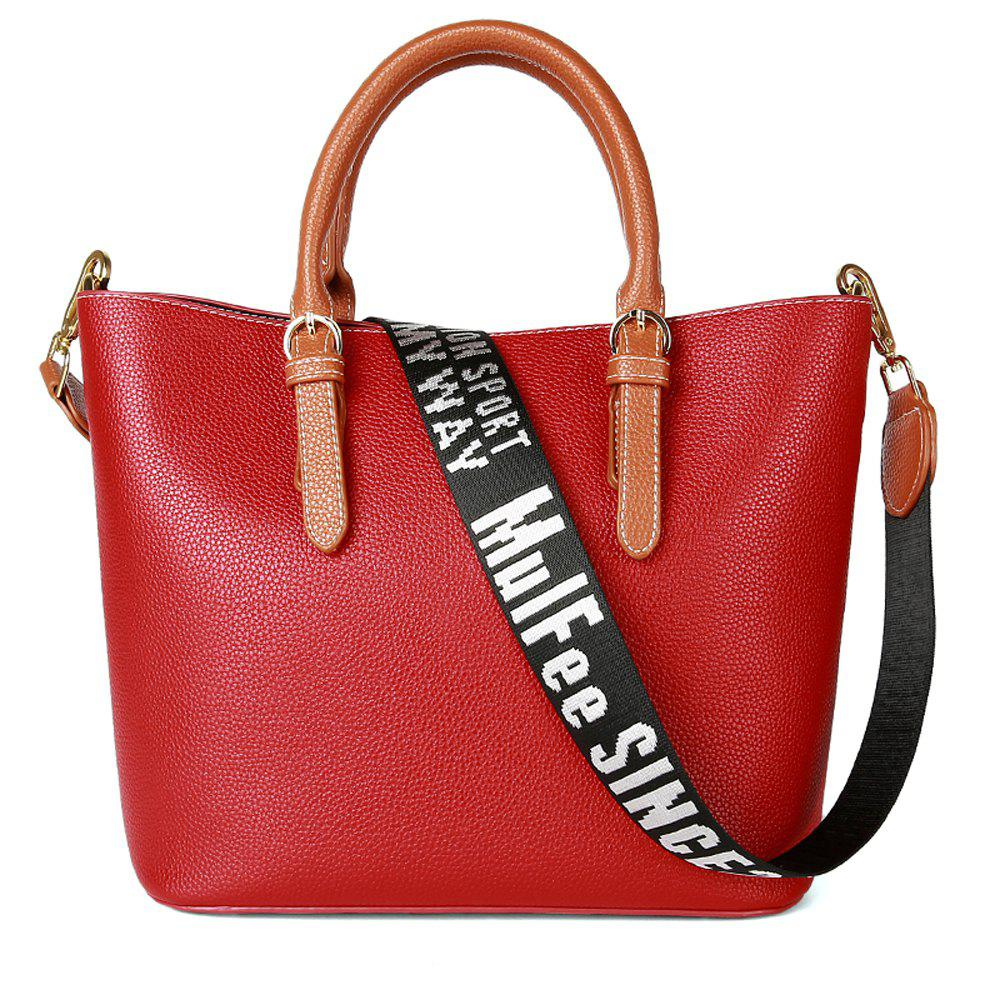 Unique Women's Handbag Solid Color All-match Large Capacity Top Fashion Bag