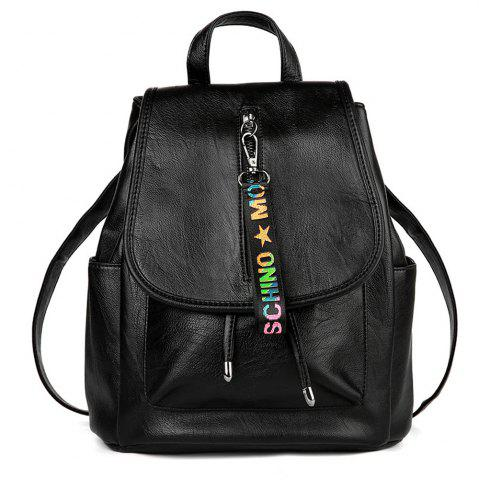 Shop Women's Backpacks Vintage Solid Zipper All-match Preppy Style Travel Bag