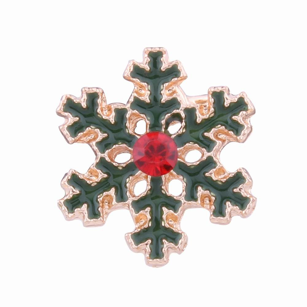 Outfit Fashion Design Korean Style Christmas  Snowflakes Clip Earrings Charm Alloy Rhinestone Jewelry