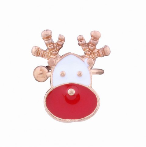 Shops Korean Style Christmas  Deer-shaped Clip Earrings Charm Jewelry