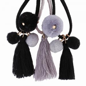 Fashion Bohemian Ethnic Style Hairball Tassel Earrings Charm Jewelry -