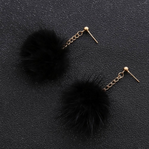 Korean Style Hipster Hairball Pendant Drop Earrings Charm Elegant Jewelry -