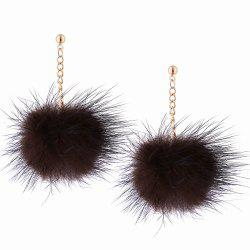 Корейский стиль Hipster Hairball Pendant Drop Earrings Charm Elegant Jewelry -