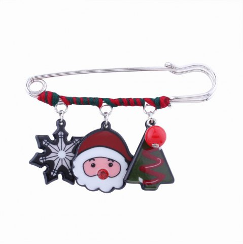 Unique Fashion Design Snowflake Pine Snowman Christmas Pin Brooch Charm Jewelry