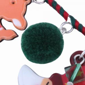 Fashion Design Santa Claus Hairball Pendant Pin Brooch Christmas Gift Charm Jewelry -