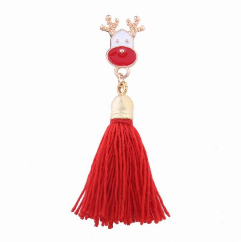 Hot Fashion Design Christmas Deer Long Tassels Brooch Charm Accessories