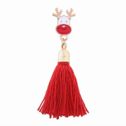 Fashion Design Christmas Bell Long Tassels Brooch Charm Accessories -