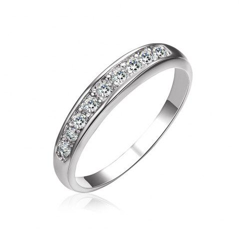 Cheap Sterling Silver Diamond Band Romantic Ring for Woman Lover