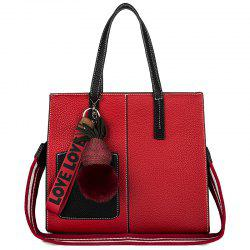 PU Women Casual Zipper Shoulder Bag -