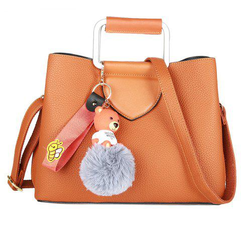 Outfit Winter Women PU Plush Cartoon Decoration Casual Tote Shoulder Bag