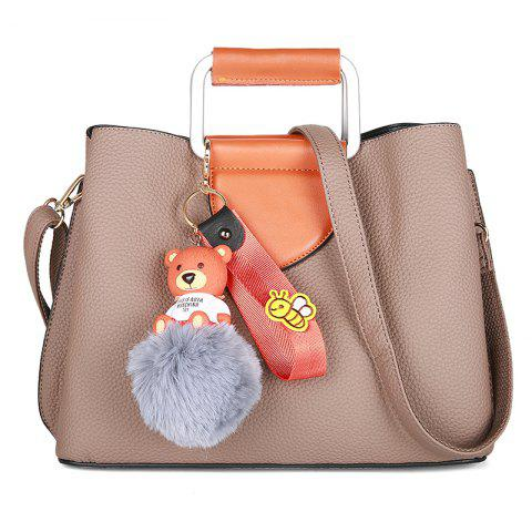 Affordable Winter Women PU Plush Cartoon Decoration Casual Tote Shoulder Bag