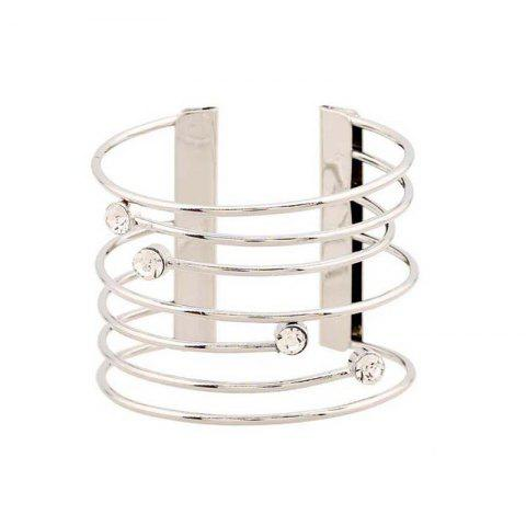 Affordable Gothic Punk  Jewelry Open Adjustable Cuff Bracelet Bangles