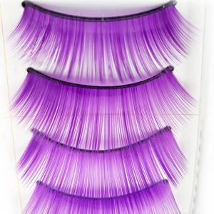 10 Pairs Purple Thick False Eyelash Tool Kit Suit -